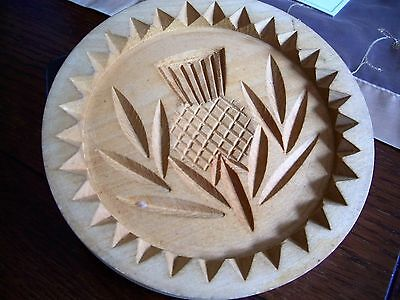 Hand carved  Scottish wooden shortbread mold in good condition
