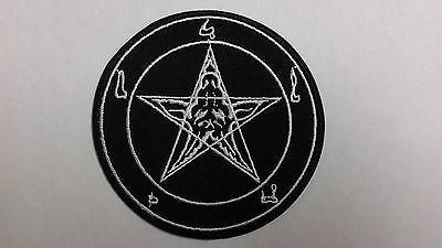"""1 pc PENTACLE DESIGN EMB. PATCH DIA 3"""" SEW/IRON ON"""