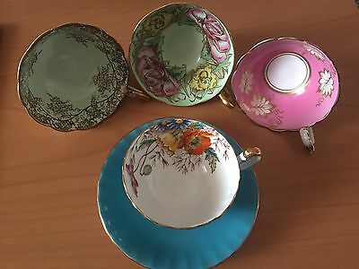 Vintage Aynsley Cup & Saucer With 3 Cups