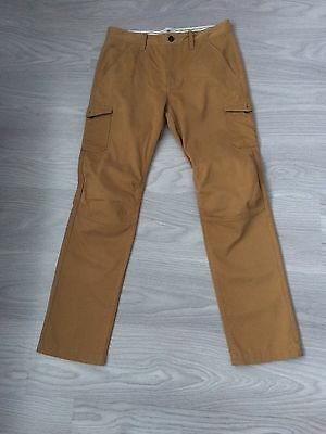 Men's Timberland Supersoft Cargo Trousers Mustard Size W32 L32 New Without Tags