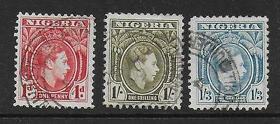 3 KGVI Nigeria stamps used in Cameroons