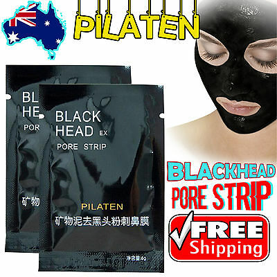 1-50pcs PILATEN Blackhead Remover PORE STRIP Face Nose Black Head Cleansing Mask