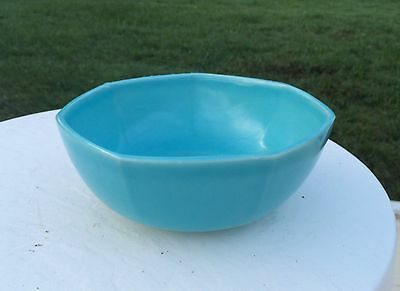 """Vintage 7 1/2"""" Rookwood Art Pottery Asian Style Teal Color Bowl American"""