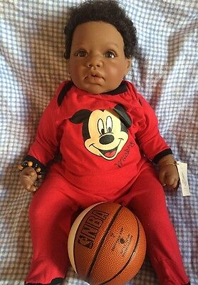 """Lee Middleton """"I Wanna Play Basketball"""" Doll Sculpted By Reva Schick Great"""