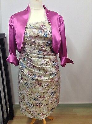 Size 24 outfit wedding mother of the bride party occasion pink