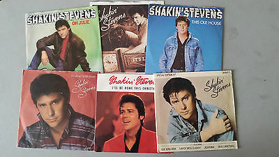 """SHAKIN STEVENS  6 x 7"""" VINYL  JOB LOT inc SPECIAL EDITION EP OH JULIE THIS OLE"""