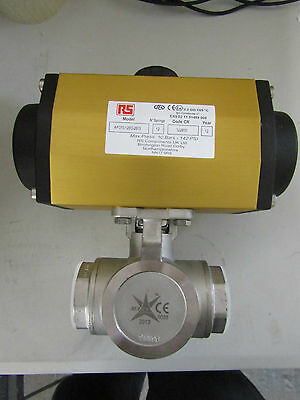 Actuated Valve Stainless Steel 3 Way, 1-1/2in Pipe Size 'L' Bore - 7998787