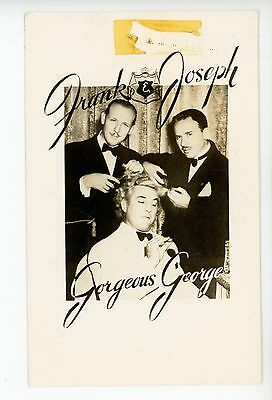 Gorgeous George Getting a Haircut RPPC Vintage WRESTLING Photo WWF WWE 1940s