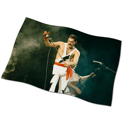"Freddie Mercury FLAG BANNER 29"" NEW Queen Somebody to Love Flash Radio Ga Ga"