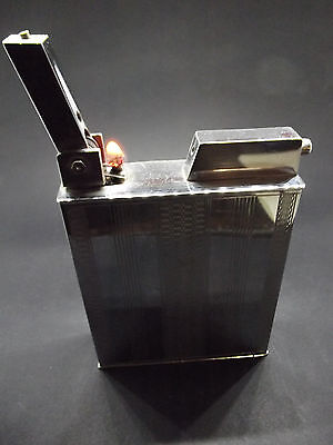 Vintage Semi automatic Polaire French table petrol lighter with tax seal