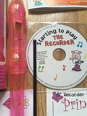 Music For Kids Recorder Instrument And Learning Tools With CD Age 4+ Stickers