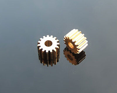 10x Metal Gear spindle Copper gear 15 teeth 3mm id 0.5 Modulus DIY motor Hot