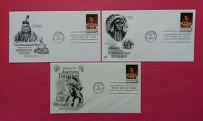 US FDC 1968 American Indian  Lot Of 3