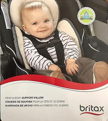 NEW Britax Head & Body Support Pillow S864900 for stroller/car seat Grey / Iron