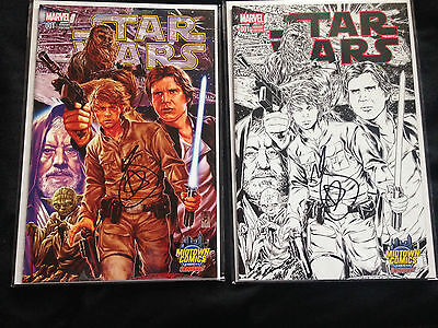 Star Wars #1 Midtown Comics Exclusive Mark Brooks Connecting Variant SIGNED!!