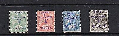 Ethiopia 1907 Postage Due with values added: SG D122, D123, D124 and D128  MLH