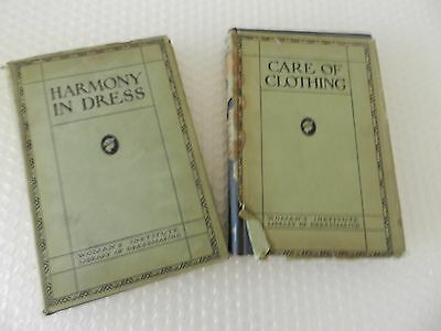 wOMENS INSTITUTE LIBRARY OF DRESSMAKING CARE OF CLOTHING HARMONY IN DRESS