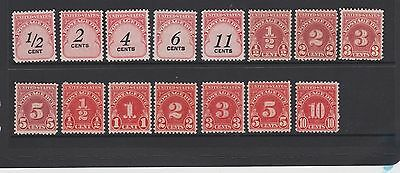 USA Small collection of Postage Due stamps