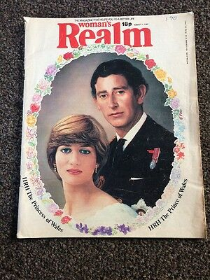 Women's Realm Magazine 1st August 1981 Charles & Diana