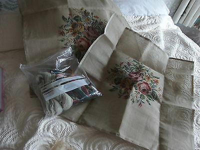 vintage tapestry kit for pair of cushion fronts or pictures