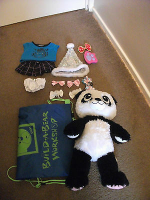Build-A-Bear Panda and Accessories