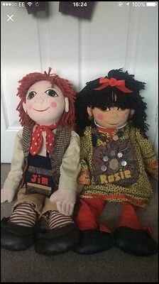 "30"" Excellent Condition Rosie And Jim Dolls"