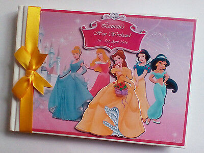 Personalised Disney Princesses/girl /first/1St Birthday Guest Book Any Design