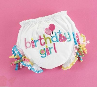 mud pie youth birthday girl bloomer NWT 12-18 month diaper cover birthday baby
