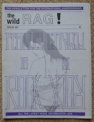 THE WILD RAG! Zine #27 Females in Rock Demonic Christ Lullaby Black Death Metal