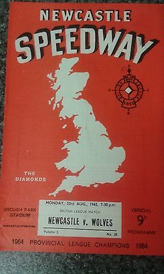 speedway programme 1965  NEWCASTLE v WOLVERHAMPTON  (unfilled)