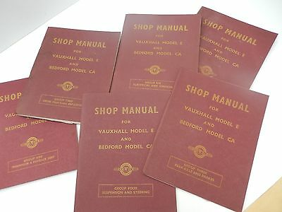 Vauxhall and Bedford Model CA Shop Manuals Groups 2 - 7 (6 booklets) Vintage