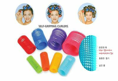 Short JET SET EZ GRIP Hair Rollers Curlers Roll Perm Styling Fringe Styling