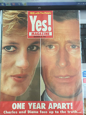 Princess Diana Uk Only Yes Magazine Available 1 Day Only 1993