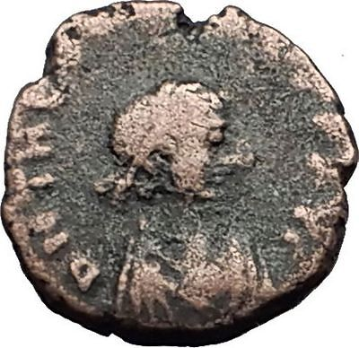 THEODOSIUS II 425AD Christian CROSS Genuine Authentic Ancient Roman Coin i59296