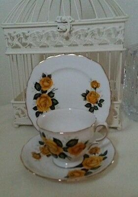 Royal Vale vintage china Trio Golden Wedding Roses