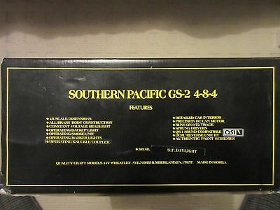 Weaver Models 0 Scale Southern Pacific GS2 4-8-4