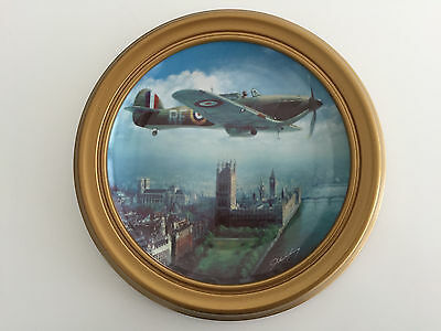 Mounted Framed Franklin Mint Pride Of The Raf Limited Edition Plate With Cert