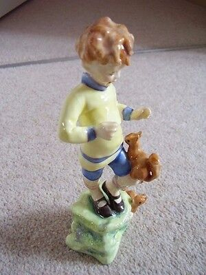 ROYAL WORCESTER England porcelain MONTHS OF THE YEAR FIGURINE ,OCTOBER