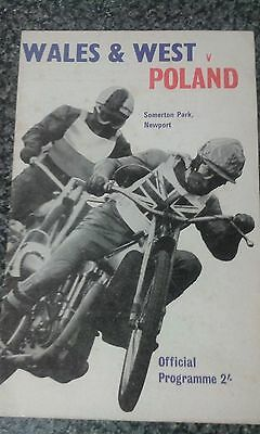 speedway programme 1966  WALES & WEST v POLAND  (filled IN )