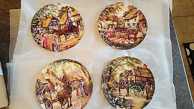 4 x Royal Doulton LIMITED EDITION Wall Plates - Country Deliveries Collection
