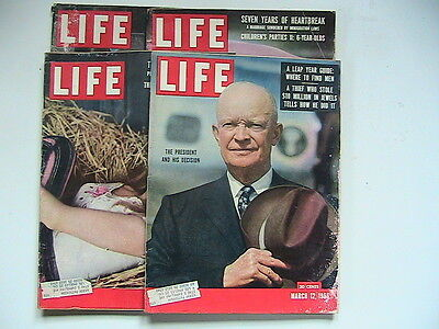 Life Magazines: Lot Of 4  From 1956  K6