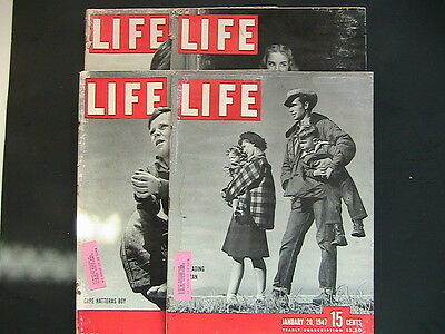 Life Magazines: Lot Of 4  From 1947  K7