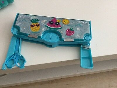 Popular Girls Smiggle Pop Out Pencil Case With Pencil Sharpener, Blue Used