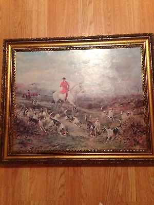The Find by Heywood Hardy Framed Vintage Print Fox Hunting 1843 - 1933