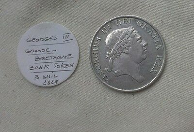 Royaume-Uni - Great Britain * Georges Iii * 3 Shilling Argent 1814 Silver Token