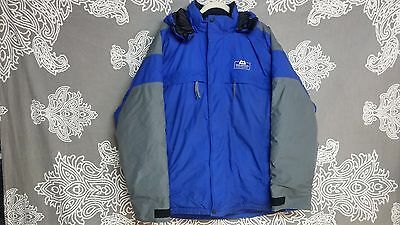 Mountain Equipment Men's Solid Blue/Gray Down Winter Jacket Sz L