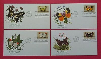 US FDC 1977 Butterflies Of The US  Lot Of 4