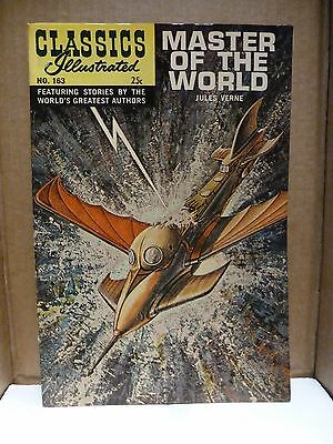 Classics Illustrated #163, 1968. Master of the World. (hrn #166) VF