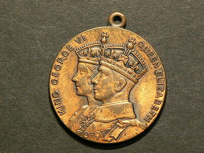 Canada Lachine Quebec, 1936 King George VI Coronation Bronze Medal #5089