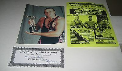 WWF WWE Owen Hart Wrestling Superstar  Signed Autograph 8 x 10 Photo COA